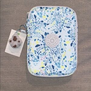 "Kipling 100 pens pencil case ""delicate vines"""